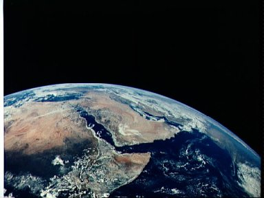 View of Saudia Arabia and north eastern Africa from the Apollo 17 spacecraft