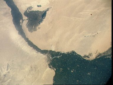 Vertical view of Arab Republic of Egypt from ASTP mission