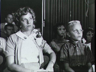 Family of Astronaut Virgil Grissom watches press conference