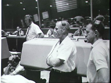 View of the Mission Control Center during MR-4 mission