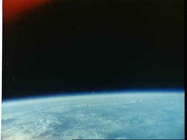 View of clouds over Indian Ocean taken by Astronaut John Glenn during MA-6