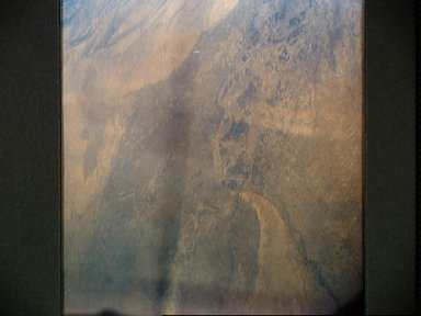 Indus River above Hyderabad photographed during MA-9 flight