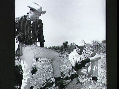 Astronauts Stafford and Lovell on geological field trip to West Texas