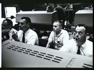 Mission Control Center at Cape Kennedy during Gemini 4