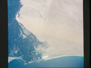 View of Alexandria, Egypt from Gemini 5