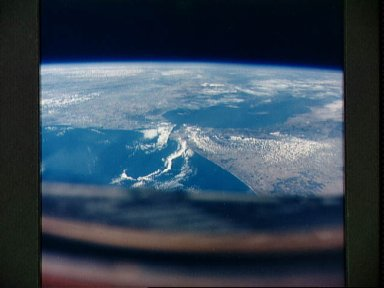 View of the Straits of Gibraltar from Gemini 5
