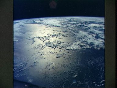 Indian Ocean just east of Madagascar as seen from the Gemini 6 spacecraft