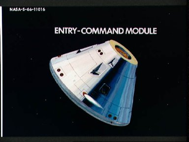 Artist concept of Command Module oriented for reentry