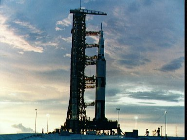 Sunrise at Pad 39A during checkout of facilities