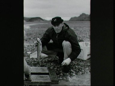 Astronaut Jack R. Lousma during a geological field trip to Iceland
