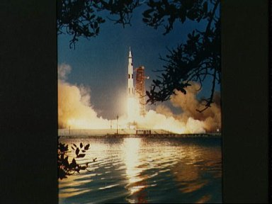 Apollo 6 unmanned space mission launch