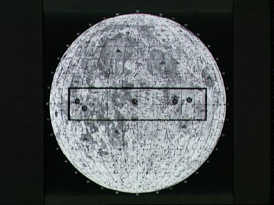 Map of the lunar surface with the proposed lunar landing sites marked