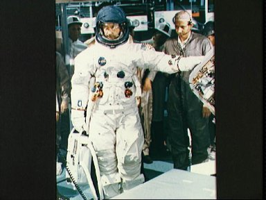 Asrtonaut James McDivitt stands by for fit and function test activity