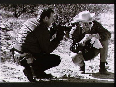 Astronauts Lovell and Haise during geological field trip in far west Texas