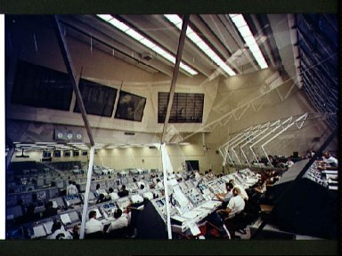 Firing Room 3 of Launch Control Center, Launch Complex 39 countdown test