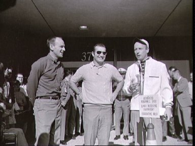 Astronaut Charles Conrad during ceremonies after release from quarantine
