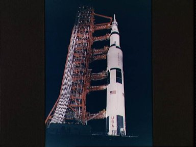 Apollo 13 space vehicle during Countdown Demonstration Test
