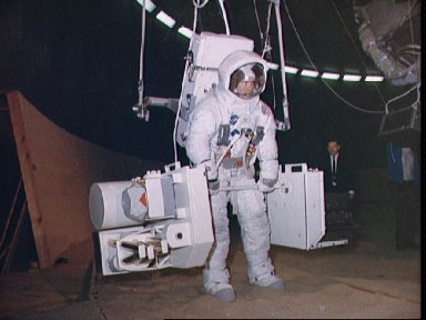 Apollo 13 Astronaut Fred Haise during lunar surface simulation training