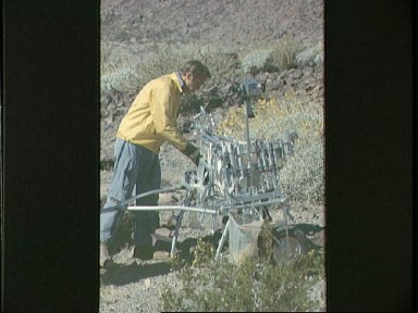 Astronaut Alan Shepard using MET during geological training in Mexico
