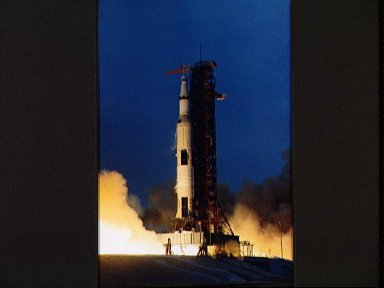 Launching of the Apollo 13 lunar landing mission
