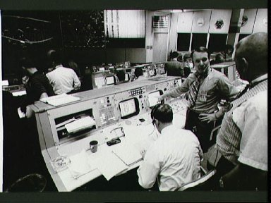 Activity in the Mission Control Center during Apollo 14