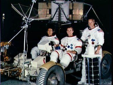 Apollo 15 prime crew portrait