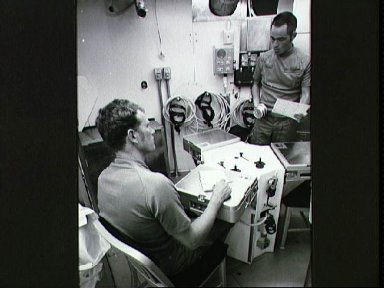 Two of three astronauts who will participate in SMEAT activity
