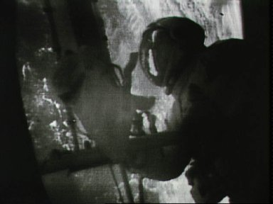 Astronaut Joseph Kerwin during EVA at Skylab 1 and 2 space station cluster