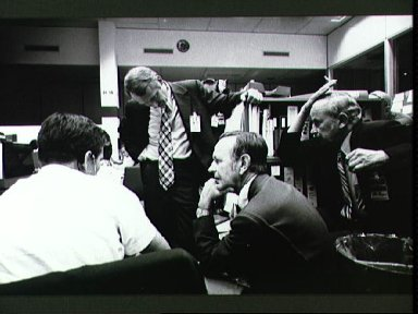 NASA Officials in the MOCR monitor problem in Skylab 3 Command Module