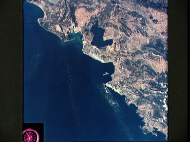 View of Mediterranean coast of France