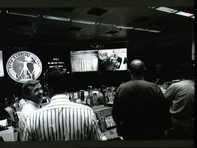 View of Mission Control Center during Skylab 3 recovery
