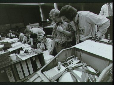 Flight controllers discuss procedures for repair of coolant system in Skylab