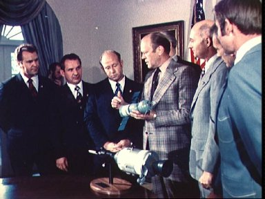 President Ford and both the Soviet and American ASTP crews
