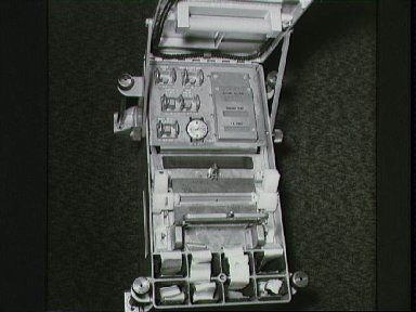 Components of experiment MA010 Apollo-Soyuz mounted in bldg 35