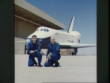 Two members of the first crew of the Shuttle Approach and Landing Tests (ALT)