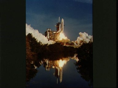 Launch view of the Columbia for the STS-1 mission, April 12, 1981