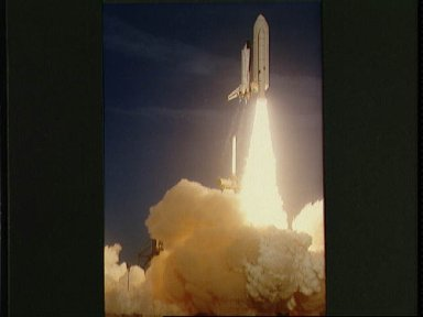 Launch views of the Columbia for the STS-1 mission, April 12, 1981