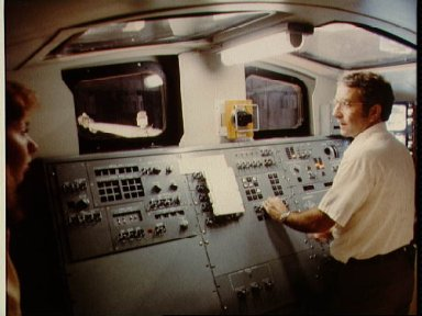 Astronaut Richard H. Truly in training session RMS for STS-2 bldg 9A