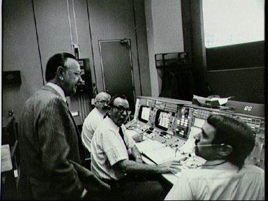 MOCR activity during Day One of the STS-2 mission scrub