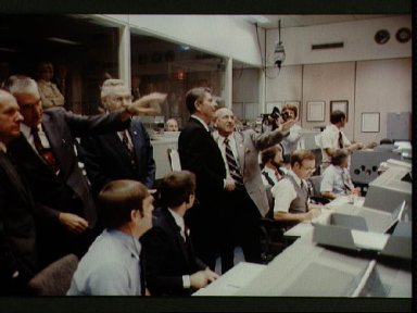Mission Operations Control Room Activities during STS-2 mission