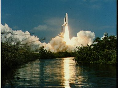 Space Shuttle Columbia OV (101) launching from pad 39A begining STS-2