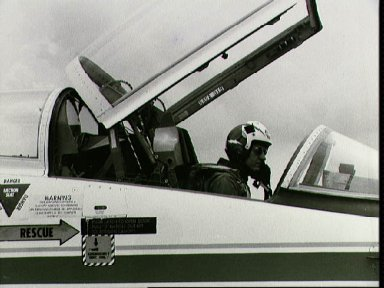 Views of STS-4 crew and families at Ellington AFB departing for KSC