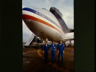 Views of Shuttle Carrier Aircraft refueling stop at Ellington