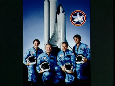 Official portrait of STS-5 mission crew.