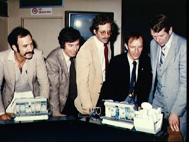 Mission Specialists eligible for the 1983 flight viewing Spacelab model