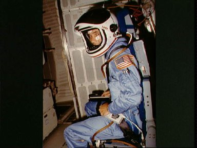 Mission Specialst Joseph P. Allen ready for launch of STS-5