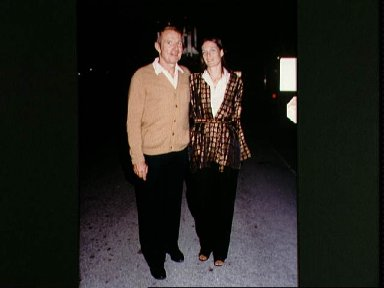 Astronaut Vance D. Brand, STS-5 commander, with wife Beverly