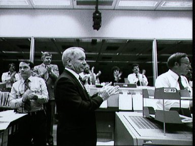 Activities in the MOCR last day after the landing of the STS-5 mission