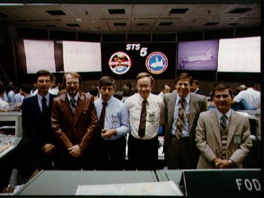 Views of the Mission Operations Control room (MOCR) during STS-5