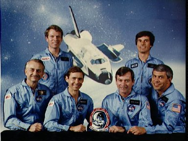 Official Portrait of the STS-9 crew